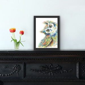 Quirky owl print