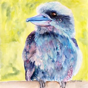 quizzical kookaburra painting