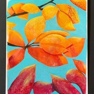 Autumn leaves blue skies 3