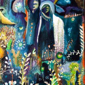 Ethereal landscape artwork