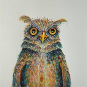 owl larry acrylic artwork