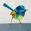 curious fairy wren artwork